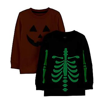 Simple Joys by Carter's Boys' Toddler 2-Pack Halloween Long-Sleeve Tees, Pump...
