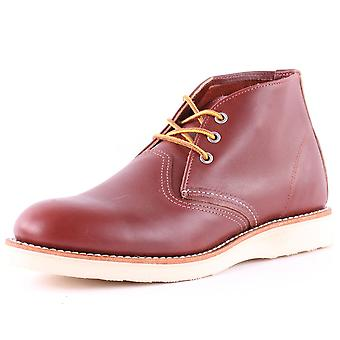 Red Wing 3139 Classic Mens Chukka Boots in Donker Rood