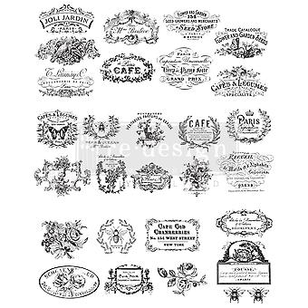 Re-Design with Prima Classic Vintage Labels 24.7x31.2 Inch Decor Transfers