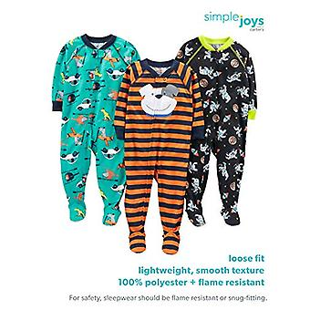 Simple Joys by Carter's Girls' 3-Pack Loose Fit Flame Resistant Polyester Jer...