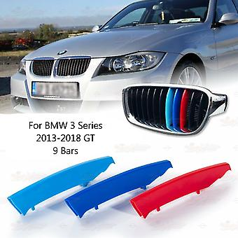 BMW 3-serie 2013-2018 GT 9 Bars Clip In Grill M Power Kidney Stripes Cover