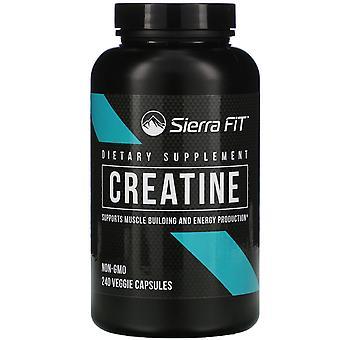 Sierra Fit, Creatine, 750 mg, 240 Veggie Capsules