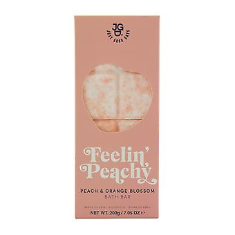 Just Good Days Peach and Orange Blossom Bath Bar Mousse de bain pétillante 200g