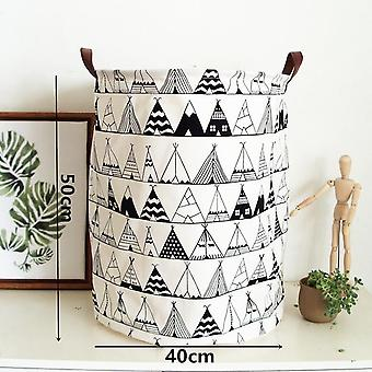 Nordic Style Canvas Storage Bag For Toys Clothes Kids Ball Pits Organizer Bag Pouch Horse Canvas Storage Pouch Stand Bag For Kid