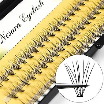 60pcs Professional Makeup Individual Cluster Eye Lashes Grafting Fake
