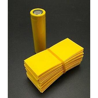 100kpl / erä litiumakku kapselointi putki 18650 omistettu lämpö kutistuu putki