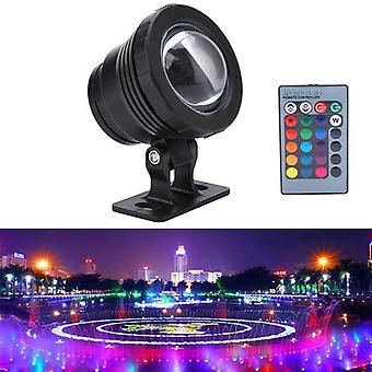 10w/20w  Rgb Led Underwater Light Waterproof Ip65-aquarium Tank Lamp 16 Color+ Remote Controller