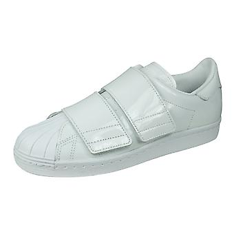 adidas Originals Superstar 80s CF Womens Leather Laceless Trainers - White