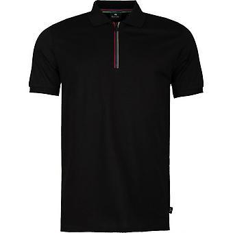 Paul Smith Streifen Zip Hals Polo Shirt