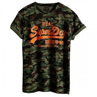 Superdry VL AOP Camo AOP T-Shirt Vert F28