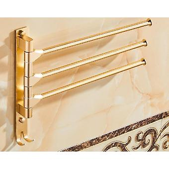 European Space Aluminium Towel Rack 4/3/2 Arms Towel Hanging With Hooks Wall Towel For Bathroom