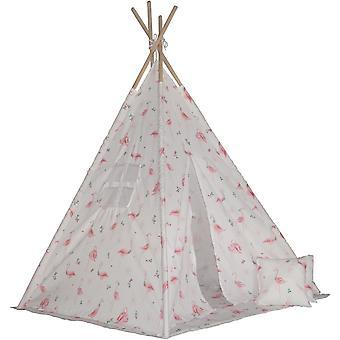 Tenda Tipi Enero brinquedos, esteira e almofadas flamingo