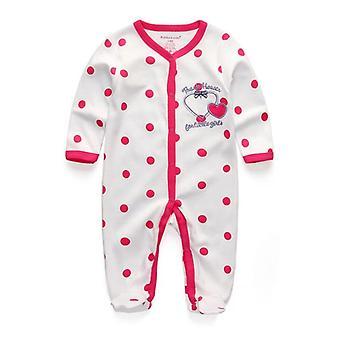 Newborn Baby&girls Clothing Cotton Broadcloth Romper Pajamas Cartoon Regular