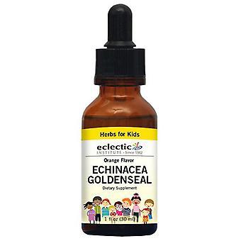 Eclectic Institute Inc Kid's Echinacea Goldenseal, Oranssi 2 oz alkoholiton