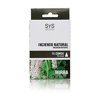Myrrh Incense Cones 15 units