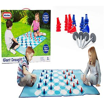 Little Tikes Kids Fun Play Actividad En interiores y al aire libre Juegos Set, Giant Draughts