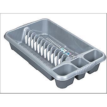 Qué más Casa Dish Drainer Medium Silver 12731
