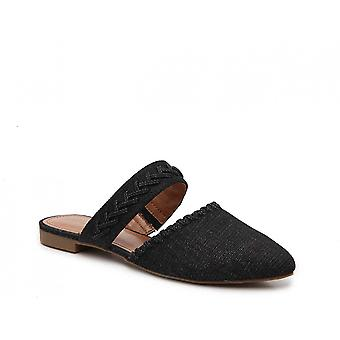 Indigo Rd. Womens Gabela Fabric Pointed Toe Slide Flats