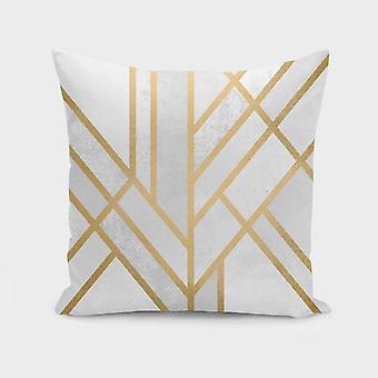 Couverture d'oreiller de conception de géométrie