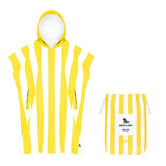 Adult poncho - quick dry hooded towel - boracay yellow