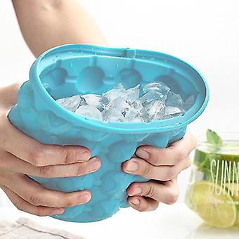 Silikon Eiseimer Form Largem mit Deckel Platz sparen Champagner verwendet
