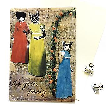 It's Your Party Sassy Cats Card