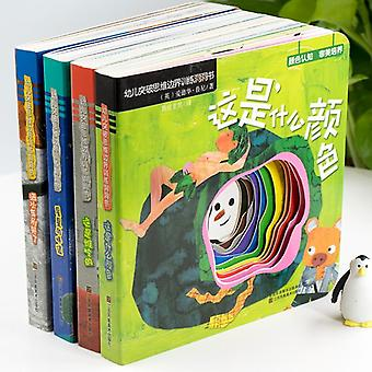 Children's 3d Flip Books, Enlightenment Learn Chinese, English,