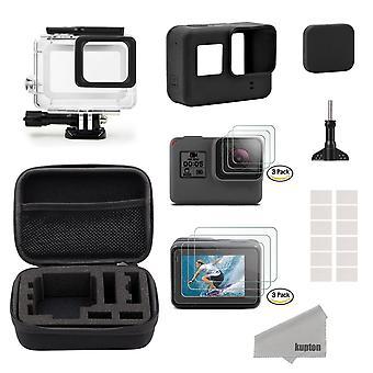 Kupton accessories for gopro hero7black only//2018/6/5 black starter kit travel case small+housing c
