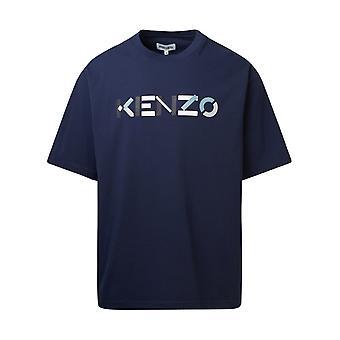 Kenzo Fa65ts05554sk76 Men''s Blue Cotton T-shirt