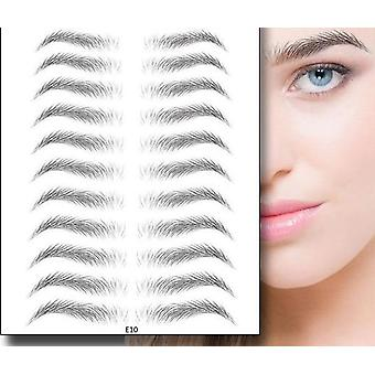 4d Hair Like Stick-on Eyebrow-false, Long Lasting And Super Waterproof
