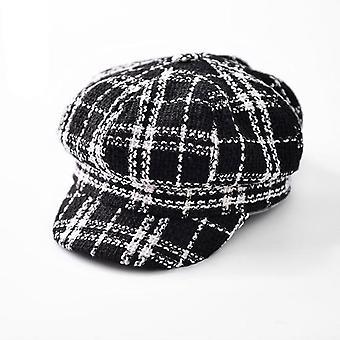 Nők Newsboy Cap őszi téli nemez kalapok Vintage vastag nyolcszögletű női alkalmi