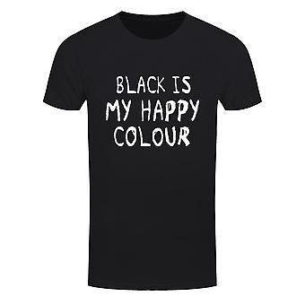 Grindstore Miesten Musta Is My Happy Colour T-paita