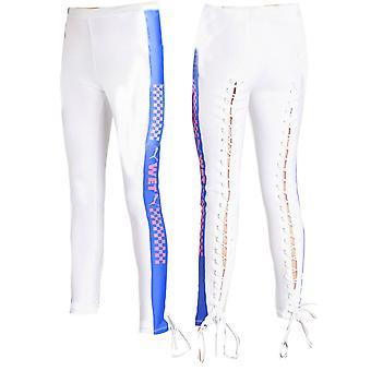 Puma x Rihanna Fenty Naisten Side Strip Jersey Tiukat leggingsit Valkoinen 577293 03 X43