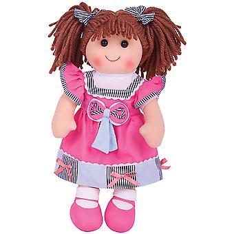 """Bigjigs toys emma doll 38cm (15"""") - ragdoll cuddly toy"""