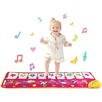 Sanlinkee piano musical mat,100 x 36cm piano mat for kids piano keyboard music mat electronic gift f