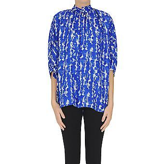 Christian Wijnants Ezgl608003 Women's Blue Silk Blouse