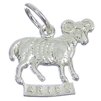 Aries The Ram Sterling Silver Charm .925 X 1 Zodiacs Rams Goats Charms - 319