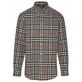Burberry 8028886a4706 Heren's Grijs Katoen shirt
