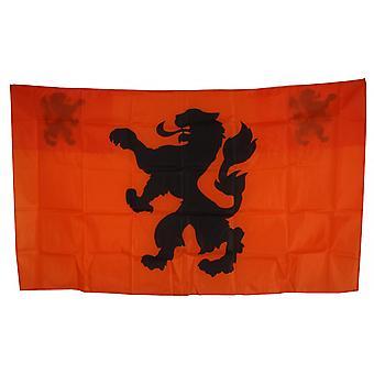 Cape Flag Orange / Black 90 X 150 Cm