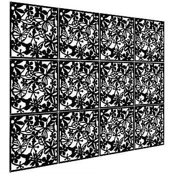 12 Pcs Partitions Panel Screen For Decorating Bedroom, Dining, Study, And Sitti