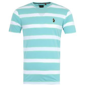 Luke 1977 Burkhara Wide Stripe T-Shirt - Sky Blue