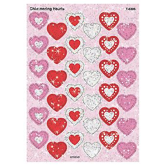 Shimmering Hearts Sparkle Stickers, 72 Ct
