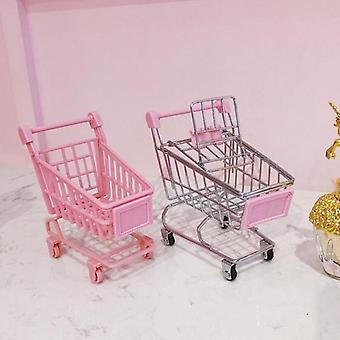 Simulation Mini Shopping Cart Kids Pretend Toy Creative Simulation Hand Trolley