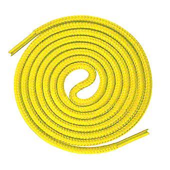 Lacets jaunes ronds d'entraîneur de sport