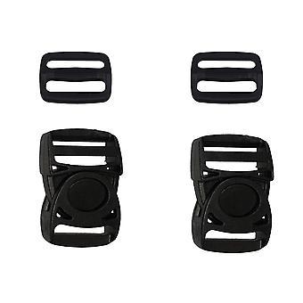 25mm 2 Set Plastic Side Release Adjustable Triglide Buckle-Design 1