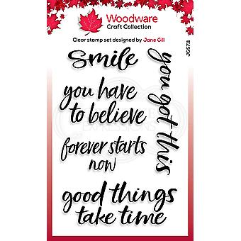Woodware Jane Gill Good Things 4 in x 6 in Clear Stamp