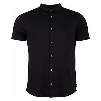 Emporio Armani Short Sleeved Slim Button Through Shirt