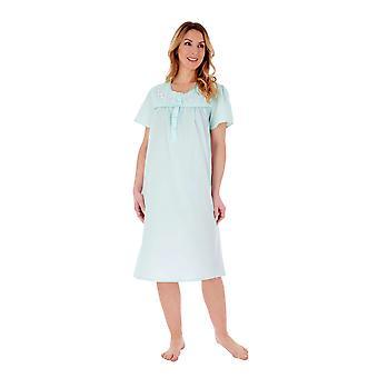 Slenderella ND55201 Dames Mint Geborduurde Nachtjapon