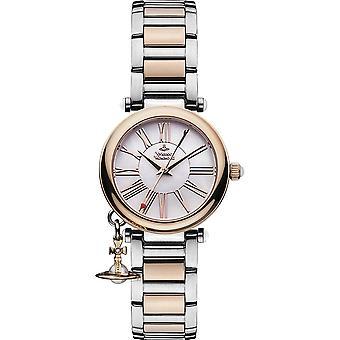 Vivienne Westwood Vv006prssl Orb Rose Gold & Silver armband damklocka