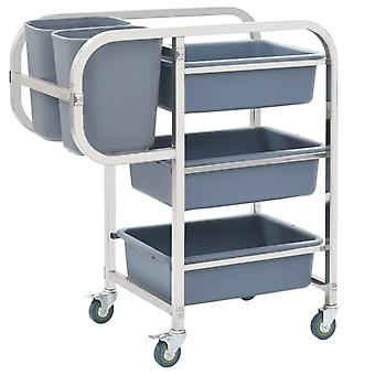 Kitchen Cart With Plastic Containers 87x43.5x92 Cm